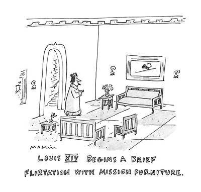 Louis Xiv Begins A Brief Flirtation With Mission Art Print