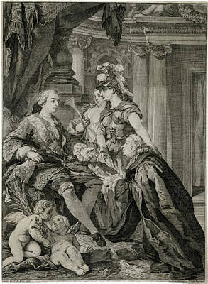 Louis Xv             Accepts Art Print by Mary Evans Picture Library