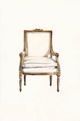 Painting - Louis Xvi Armchair by Jazmin Angeles