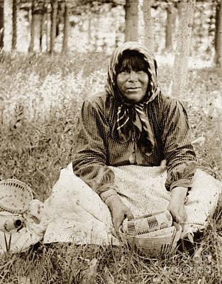 Photograph - Louisa Keyser Dat So La Lee Washoe Basketweaver Circa 1910 by California Views Archives Mr Pat Hathaway Archives