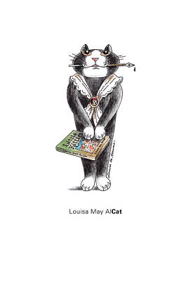 Louisa May Alcott Drawing - Louisa May Alcat by Louise McClain Reeves