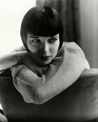 Personality Photograph - Louise Brooks On A Chair by Edward Steichen