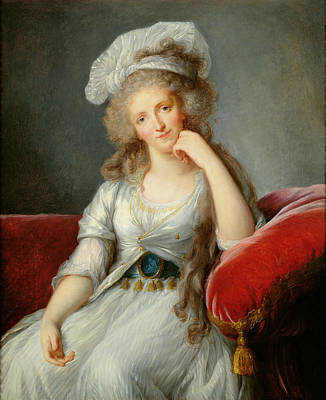 Louise-marie Adelaide, Duchesse Dorleans Oil On Canvas See Also 91622 Art Print by Elisabeth Louise Vigee-Lebrun