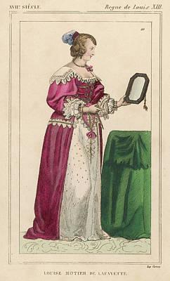 Louise Mottier De La Fayette  French Art Print by Mary Evans Picture Library