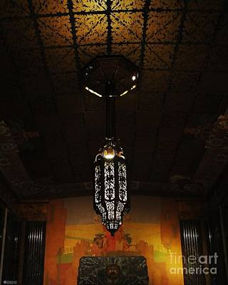 Photograph - Louisiana State Capitol Mural And Chandalier by Lizi Beard-Ward