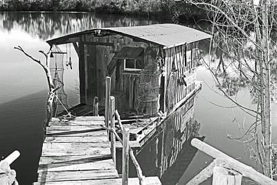 Photograph - Louisiana Cajun House Boat by Ronald Olivier