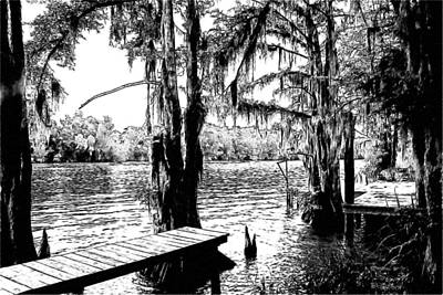 Louisiana Camp Landing Art Print