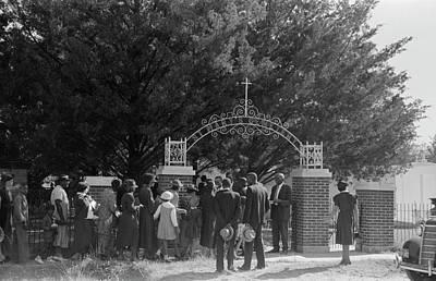 Black Cemetery Photograph - Louisiana Congregation by Granger