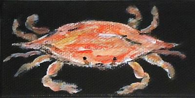 Painting - Louisiana Crab by Katie Spicuzza