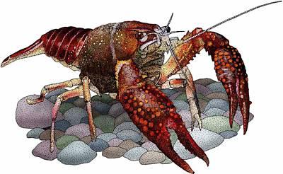 Louisiana Crawfish Art Print