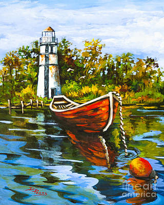 Painting - Louisiana Cypress Skiff by Dianne Parks