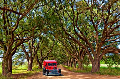 New Orleans Oil Photograph - Louisiana Dream Drive  by Steve Harrington