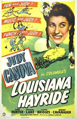 Hayride Photograph - Louisiana Hayride, Us Poster, Judy by Everett