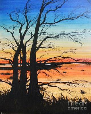 Painting - Louisiana Lacassine Nwr Treescape by Lizi Beard-Ward