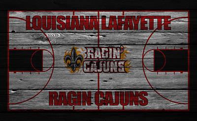 Louisiana Lafayette Ragin Cajuns Print by Joe Hamilton