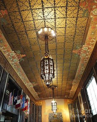 Photograph - Louisiana State Capitol Memorial Hall Chandeliers by Lizi Beard-Ward