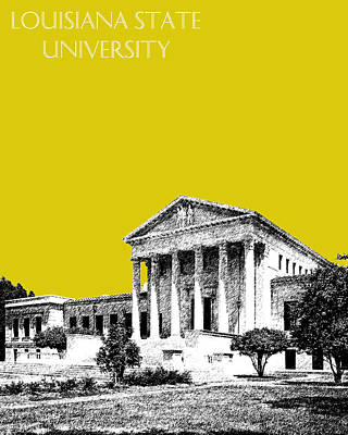 Louisiana State University Digital Art - Louisiana State University 2 - Mustard by DB Artist