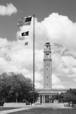 Photograph - Louisiana State University Memorial Tower by University Icons