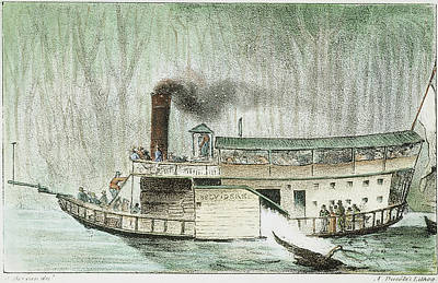 Painting - Louisiana Steamboat, 1832 by Granger