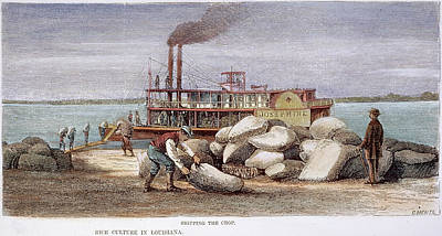 American Food Painting - Louisiana Steamboat, 1876 by Granger