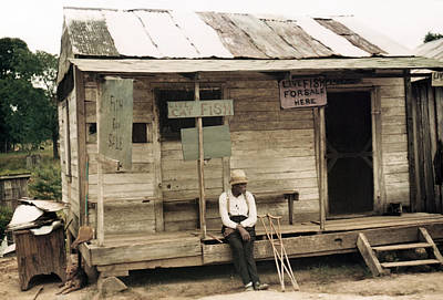 Natchitoches Photograph - Louisiana Store, 1940 by Granger
