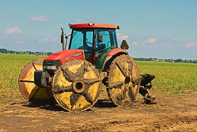 Photograph - Louisiana Sugar Cane Tractor  by Ronald Olivier