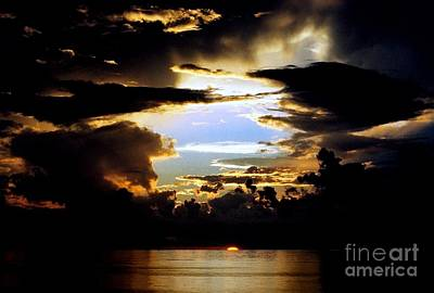 Photograph - Louisiana Sunset Blue In The Gulf  Of Mexico by Michael Hoard