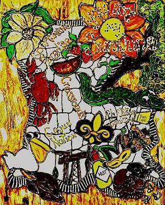 Mardi Gras Painting - Louisiana Sunshine by Amy Carruth-Drum