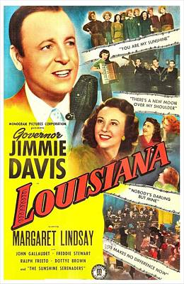 Louisiana, Us Poster, From Left Jimmie Art Print by Everett