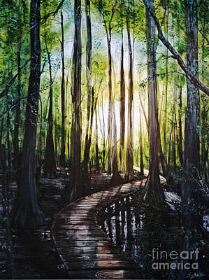 Painting - Louisiana Wildlife Throughway by Lizi Beard-Ward
