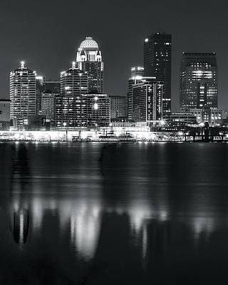 Louisville Across The Ohio River Art Print by Frozen in Time Fine Art Photography