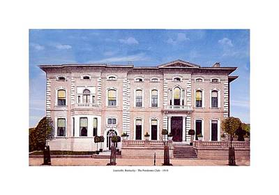 Louisville Kentucky - The Pendennis Club - 1919 Art Print