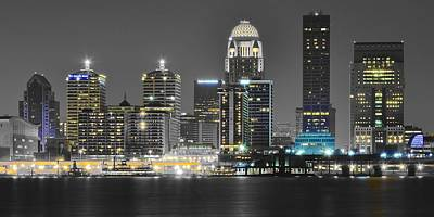 Photograph - Louisville Lights Up by Frozen in Time Fine Art Photography