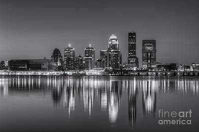 Photograph - Louisville Skyline Morning Twilight II by Clarence Holmes