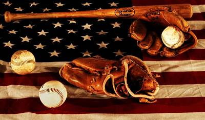 Baseball Glove Photograph - Louisville Slugger by Dan Sproul