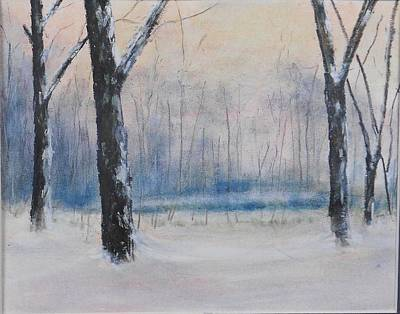 Kentucky Landscape Artist Painting - Louisville Winter Woods George Rodgers Clark Park by Gerry Furgason