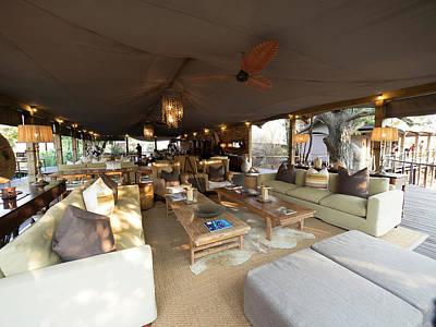 Livingstone Photograph - Lounge Area, Toka Leya Camp, Zambezi by Panoramic Images