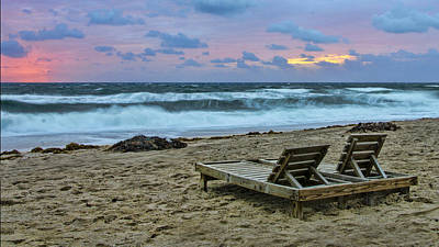Photograph - Loungers On The Beach by Don Durfee