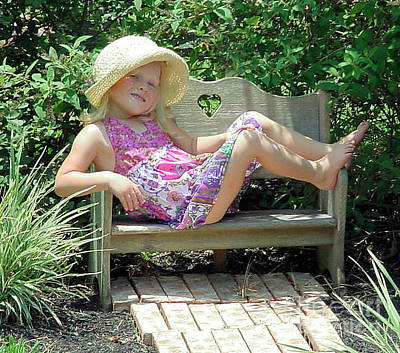 Photograph - Lounging In The Garden by Ruby Cross