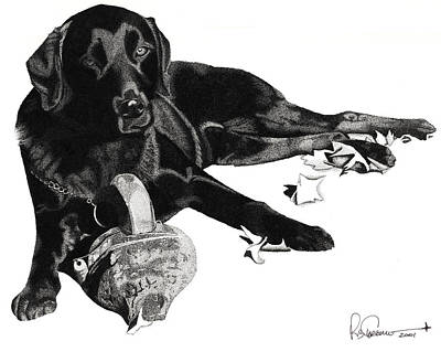 Drawing - Lounging Lab by Rob Christensen
