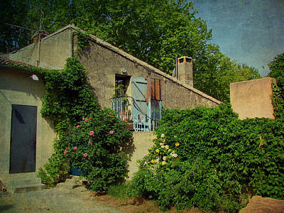 Europe Provence Lourmarin Photograph - Lourmarin Cottage by Carla Parris