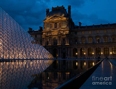 Louve Photograph - Louve At Night by Keith Pinn