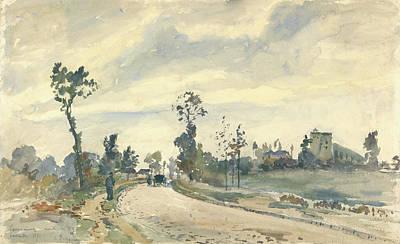 Louveciennes, Route De Saint-germain Camille Pissarro Art Print by Litz Collection