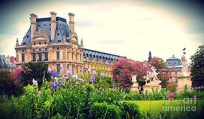 Photograph - Louvre And Tuileries Gardens by Heidi Hermes