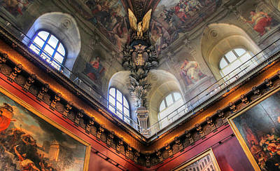 Louvre Ceiling Art Print by Glenn DiPaola