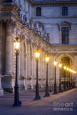 Photograph - Louvre Lampposts by Brian Jannsen