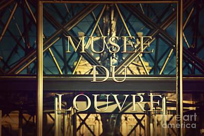Pyramid Photograph - Louvre Museum Entrance Paris France by Michal Bednarek