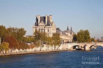 Photograph - Louvre Museum  Paris  France by Liz Leyden