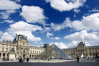 Louvre Museum. The Pyramid. Paris Art Print by Bernard Jaubert