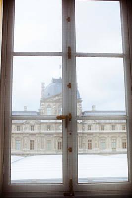 Louvre Museum Viewed Through A Window Art Print